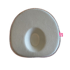 Motherhood Ergonomický polštářek pro novorozence - šedý růžové čtverce