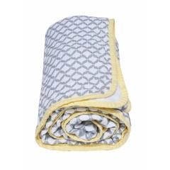 Bavlněná mušelínová deka Motherhood - Classics šedá