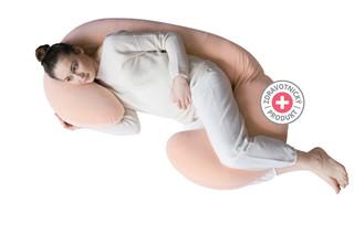 Těhotenský polštář Motherhood Premium - růžový Classics