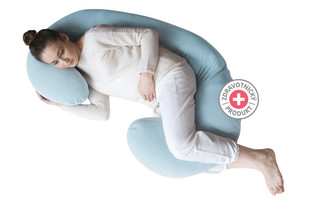 Motherhood Těhotenský polštář Premium - modrý Classics