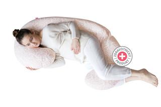 Těhotenský polštář Motherhood - růžové větvičky