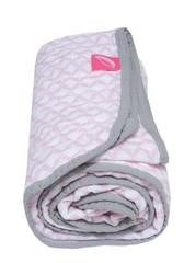 Bavlněná mušelínová deka Motherhood - růžová Classics