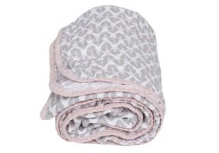 Mušelínová deka Motherhood - růžové stromečky