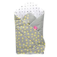 Dětská zavinovačka Motherhood - žluté kaňky