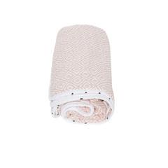 Mušelínová deka Motherhood - růžové čtverce