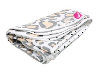 Mušelínová deka Motherhood - růžový ocelot