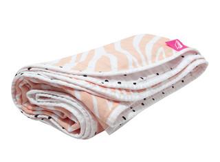 Mušelínová deka Motherhood - růžová zebra