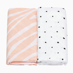 Mušelínové Premium pleny Motherhood - růžová zebra