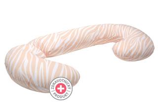 Těhotenský polštář Motherhood - růžové pruhy
