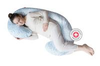 Těhotenský polštář Motherhood - modré větvičky